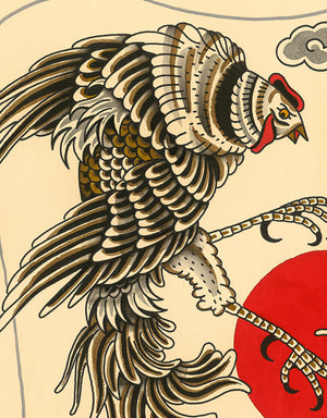 """Roosters Backpiece"" - Daniel Lacalle  - Fine Art Tattoo Print"