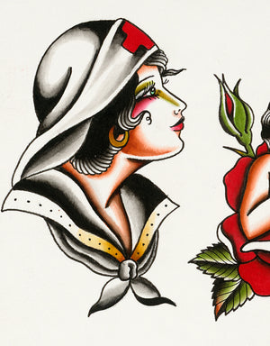 """Classic Flash - No. 5"" - Adrian de la Fuente - Beyond Tradition -Tattoo print"