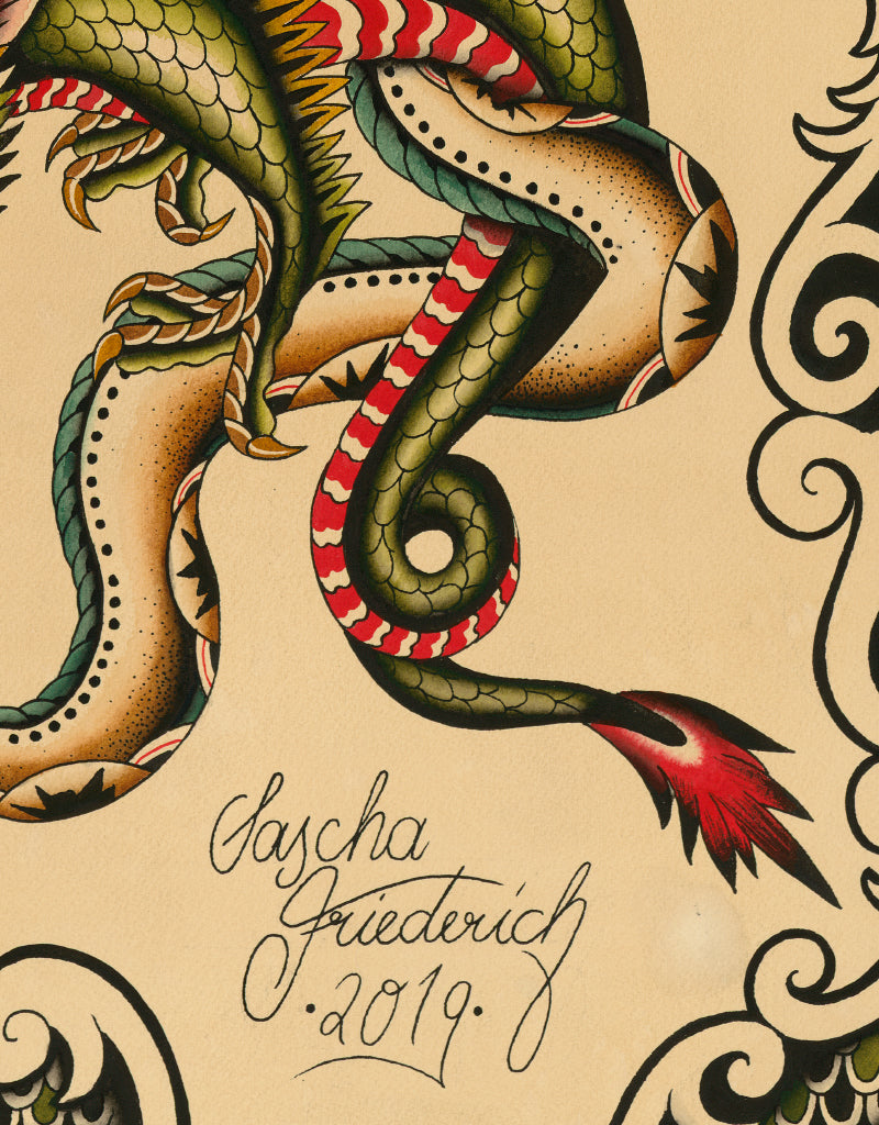 """Creature"" - Sascha Friederich - Tattoo Art Print"