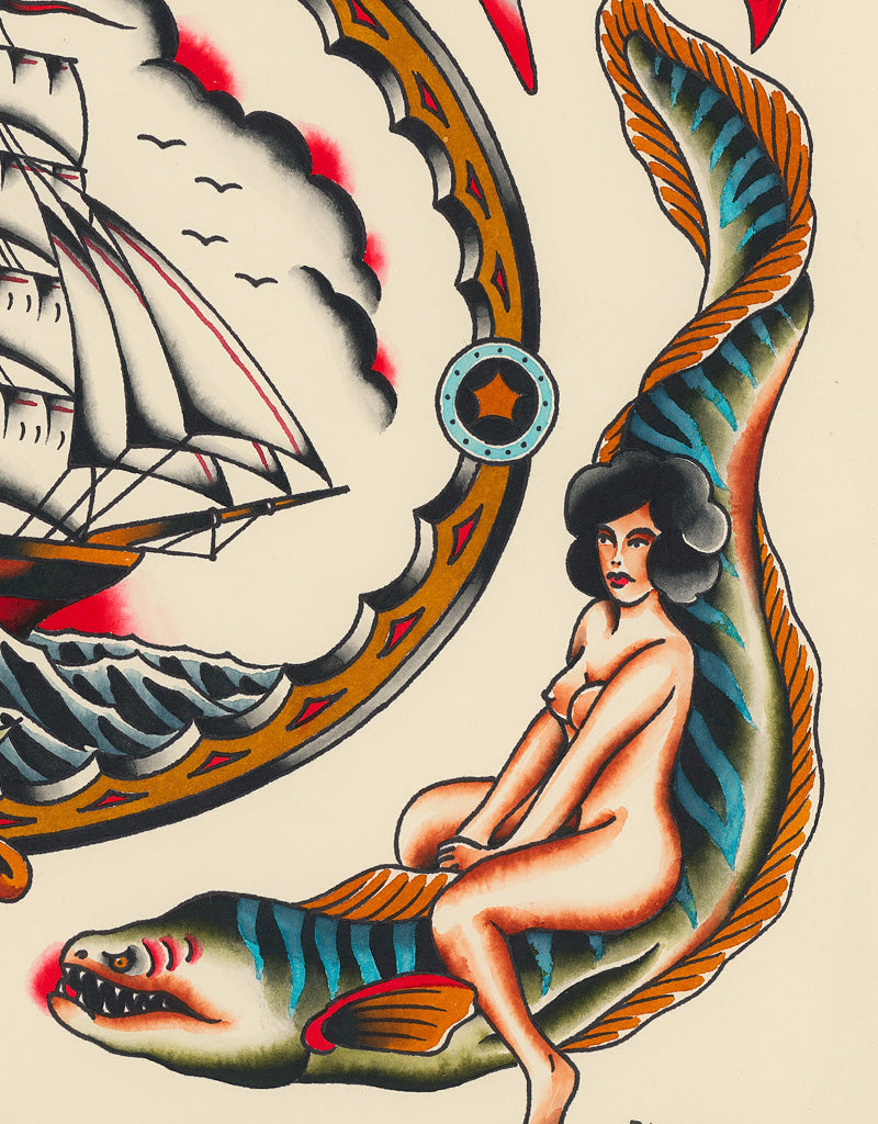 """Sea Tales"" - Vitaliy Petrykevich @blue_train69 - Beyond Tradition -Tattoo print"