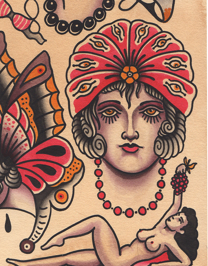 """Girls Flash"" - Falk Malisch - Beyond Tradition -Tattoo print"