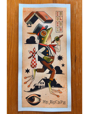 """Mr. Escape"" - Daniel Gensch - Fine Art Tattoo Print"