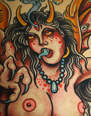 """Demon"" - Falk Malisch - Beyond Tradition -Tattoo print"