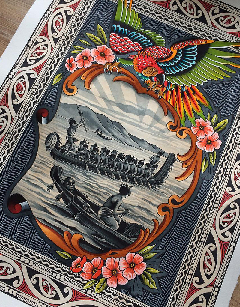 """New Shores"" - Vitaliy Petrykevich @blue_train69 - Beyond Tradition -Tattoo print"