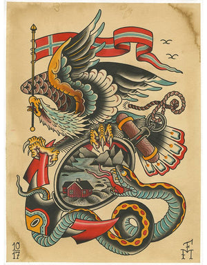 """Eagle"" - Falk Malisch - Beyond Tradition -Tattoo print"