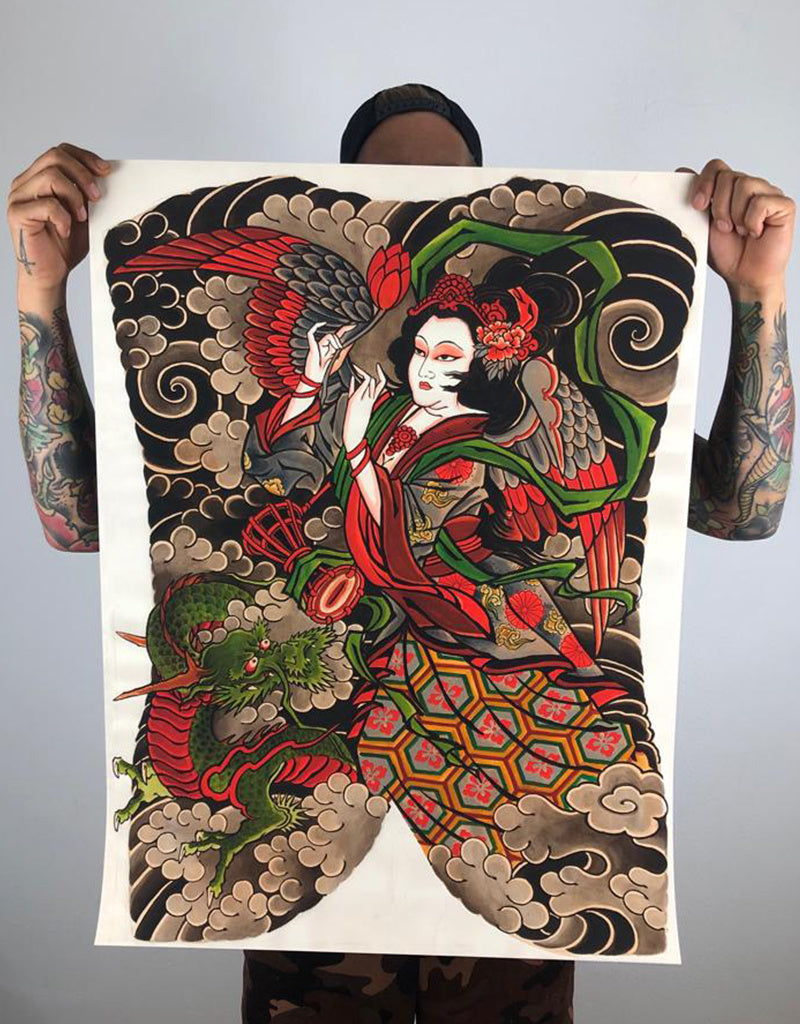 Tennyo to Ryo - Leo Barada - Beyond Tradition -Tattoo print