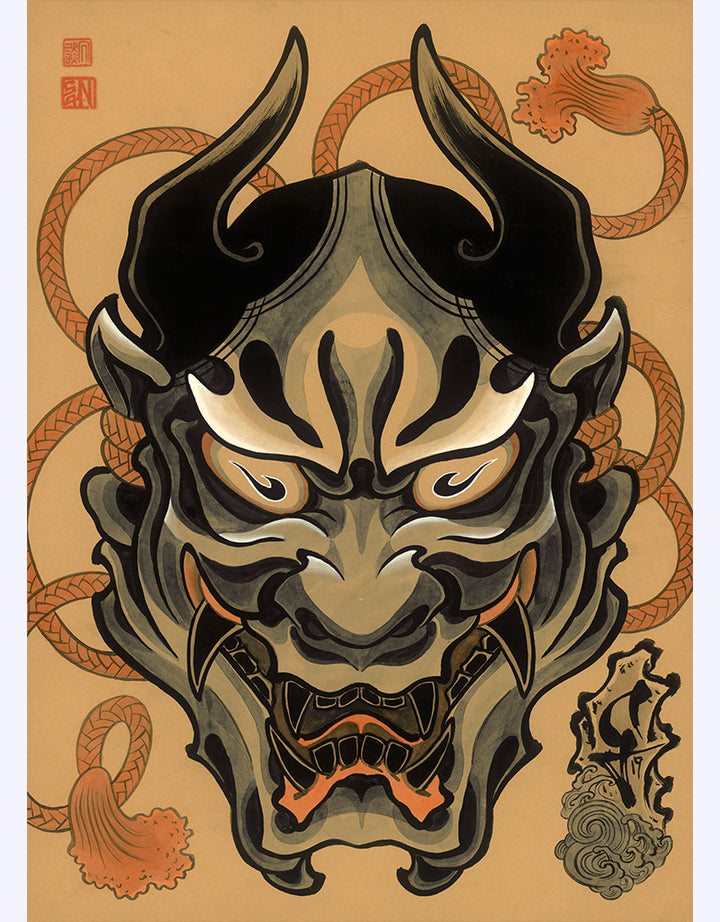 """Mask"" - Sandor Jordan - Beyond Tradition -Tattoo print"