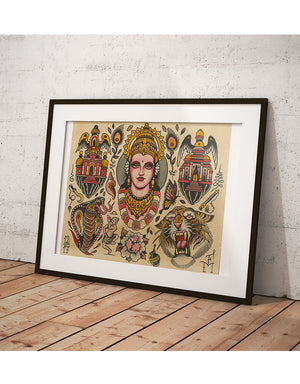 """India Flash"" - Falk Malisch - Beyond Tradition -Tattoo print"