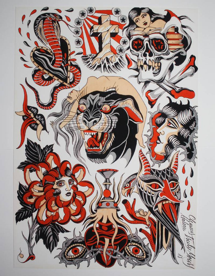 Panther Flash - Clemens Hahn - Beyond Tradition -Tattoo print