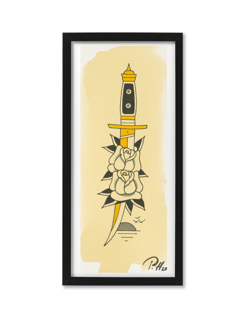 """Daggers"" - Set of 5 - Patryk Hilton - Tattoo Art Print"