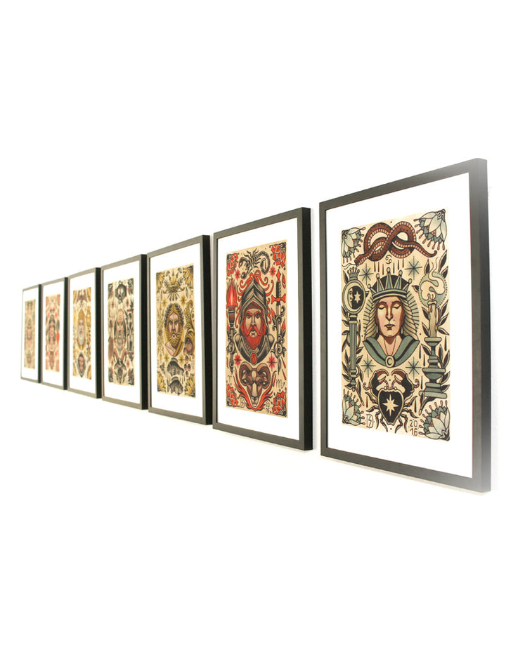 The Complete Seven Planets Series - Sebastian Domaschke - Beyond Tradition -Tattoo print