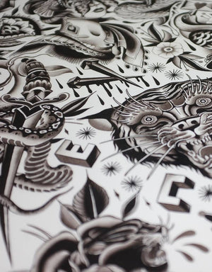 """Eternal Vacation"" - Clemens Hahn - Beyond Tradition -Tattoo print"