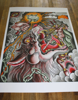 """Wolf"" - Falk Malisch - Beyond Tradition -Tattoo print"