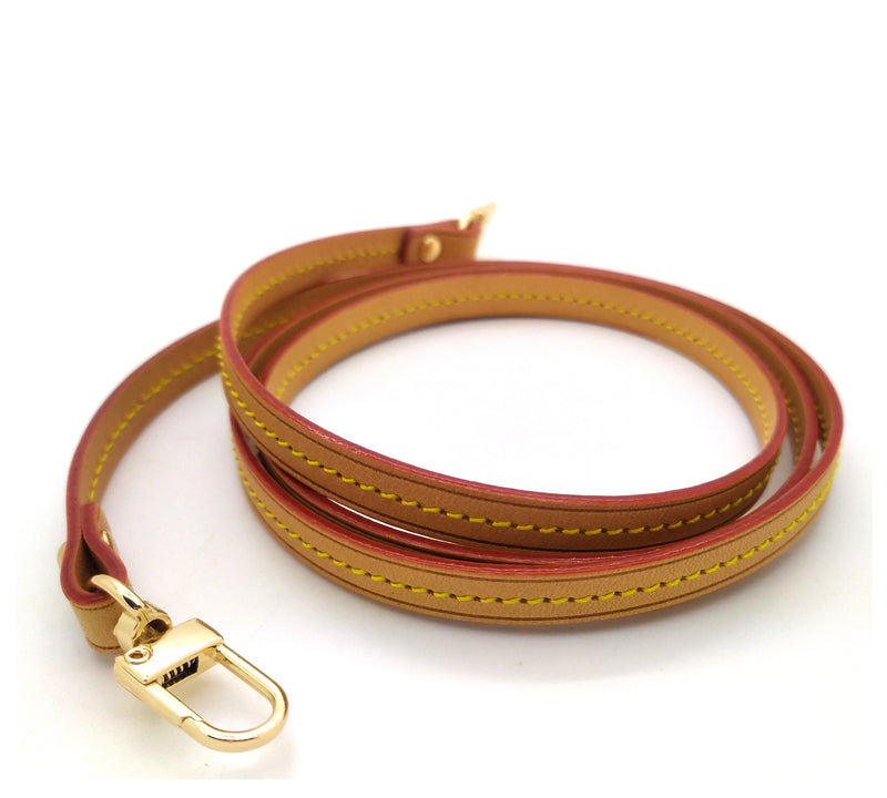 Honey Vachetta Leather Strap 10mm (Middle stitching, Burgundy Glazing)