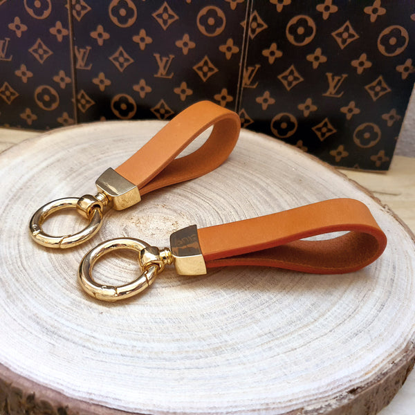 Honey Vachetta Leather KeyFob Handle