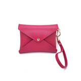 <transcy>PAKAIAN PIVOINE PINK LEATHER MEDIUM ENVELOPE CLUTCH</transcy>