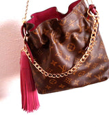 Limited Edition Pink Napa Leather XL Tassel Bag Charm