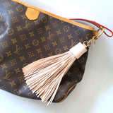 Limited Edition Natural Vachetta Leather XL Tassel Bag Charm