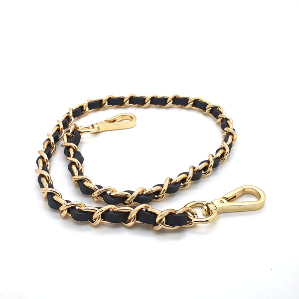 Leather and Metal Clip Chain 60-120cm