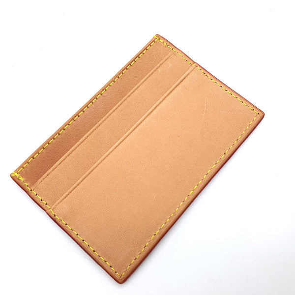 HONEY VACHETTA LEATHER CARD CASE HOLDER