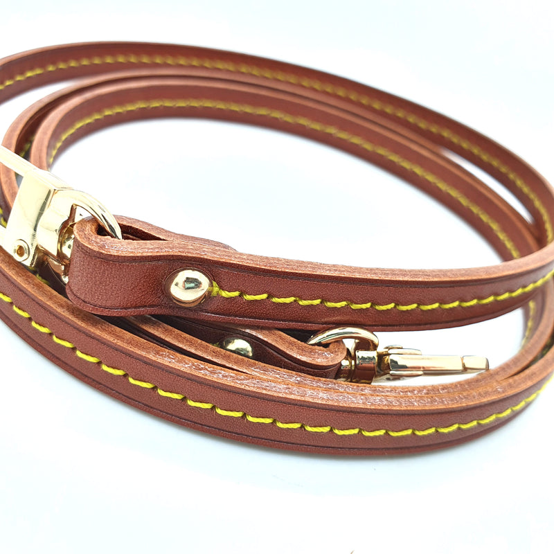 Dark Patina Vachetta Leather Strap 10mm (Middle stitching, Clear Glazing)