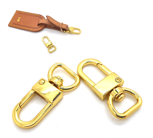 2 x 24K GOLD PLATED Clips to attach your Luggage Tag