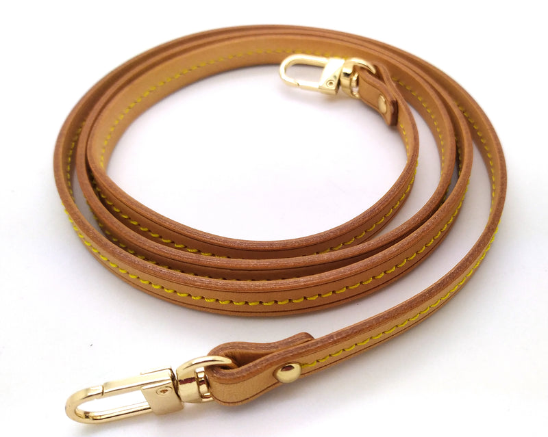 Honey Vachetta Leather Strap 10mm (Middle stitching, Clear Glazing)