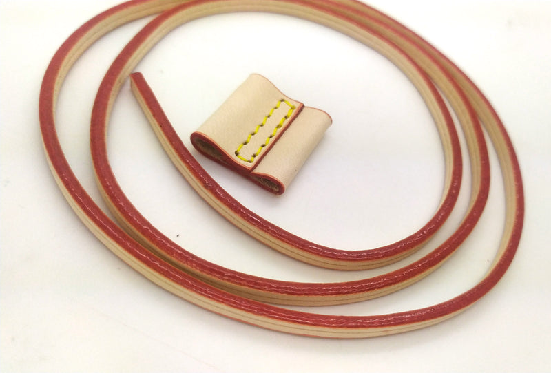 Vachetta Leather Drawstring Cord 4m with Slide For NANO NOE