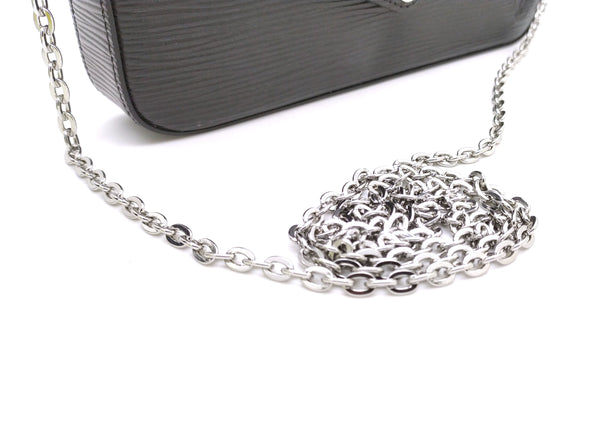 Silver Metal Crossbody Oval Chain from 100 to 140 cm