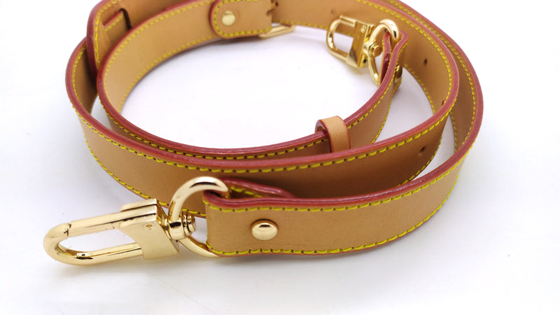Honey Vachetta Leather Adjustable Strap 25mm (burgundy glazing)