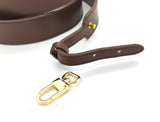Dark Brown Leather Large Strap 30mm (Clear Glazing)