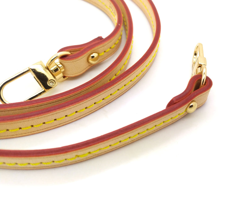Natural Vachetta Leather Strap 10mm (Middle stitching, Burgundy Glazing)