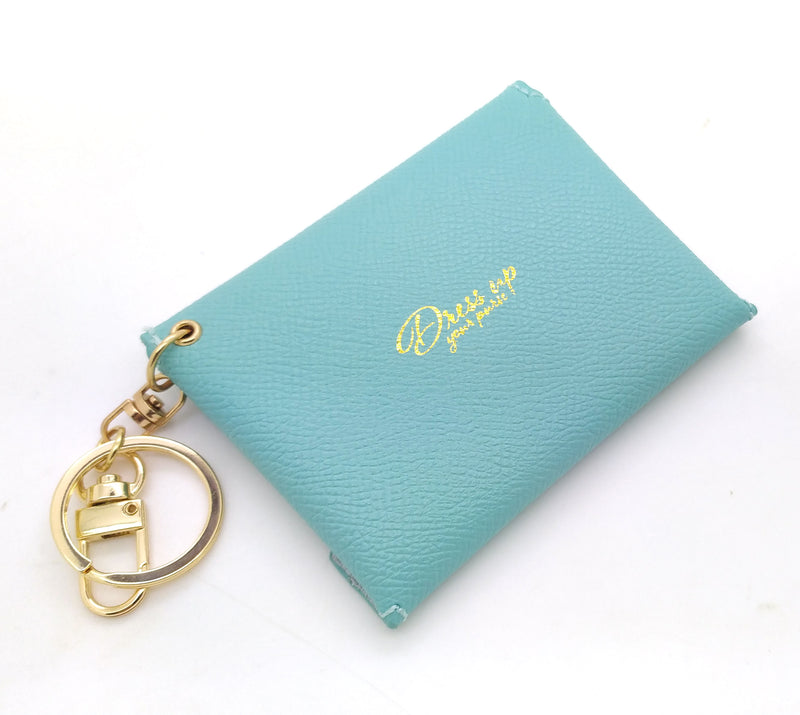 Blue Leather Mini Envelope Bag Charm