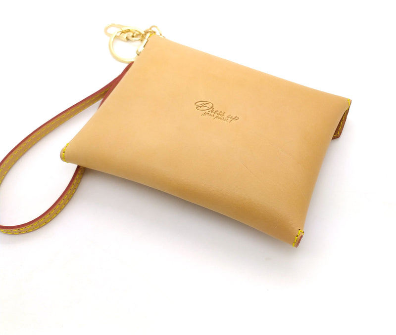 HONEY VACHETTA LEATHER MEDIUM SIZE ENVELOPE CLUTCH