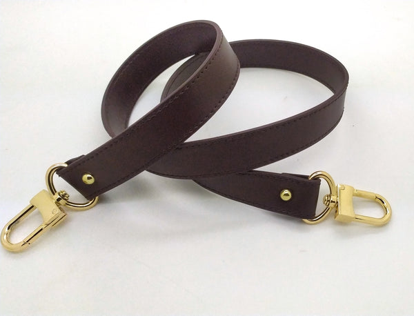 Dark Brown Genuine LEATHER SHOULDER STRAP 25MM X 90CM