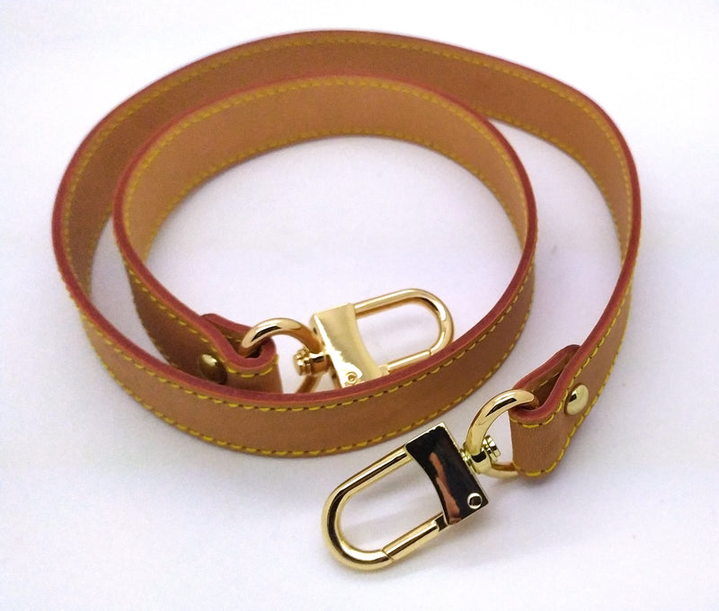 HONEY Vachetta LEATHER SHOULDER STRAP 25MM X 90CM (BURGUNDY GLAZING)