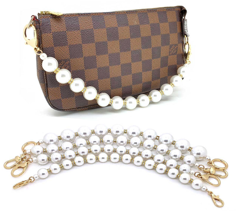 Pearls and Rhinestones Handle Bag Charm 33cm