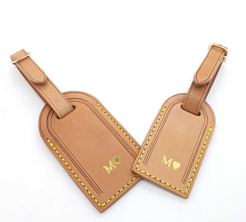Genuine Leather Luggage Tag (2 sizes)