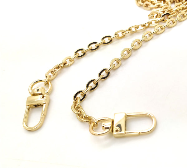 Gold Metal Crossbody Oval Chain from 90 to 140 cm