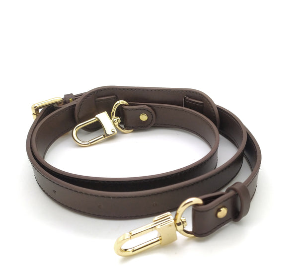 DARK BROWN LEATHER ADJUSTABLE STRAP 25MM