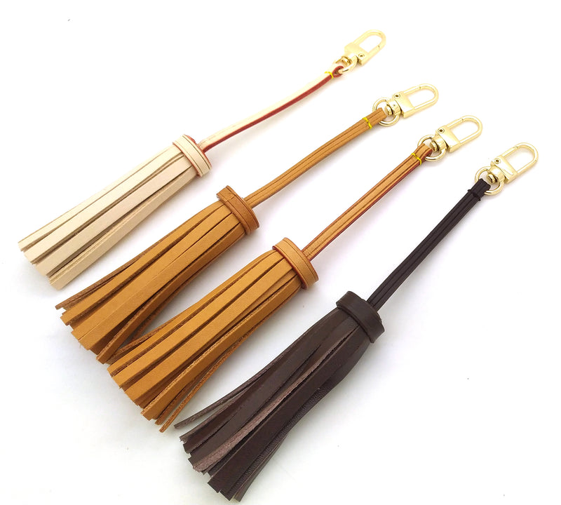 Vachetta Leather Medium Tassel Bag Charm 19cm