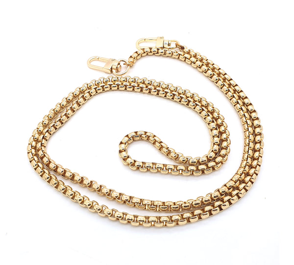 Gold Metal Crossbody Rolo Chain from 120 cm