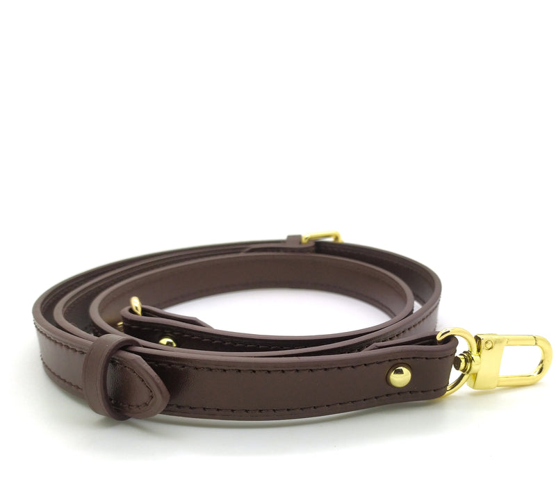 Dark Brown Leather Adjustable Strap 18mm