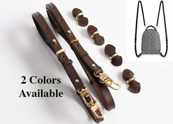 2 x Replacement straps for mini Palm Spring Backpack (black or dark brown)