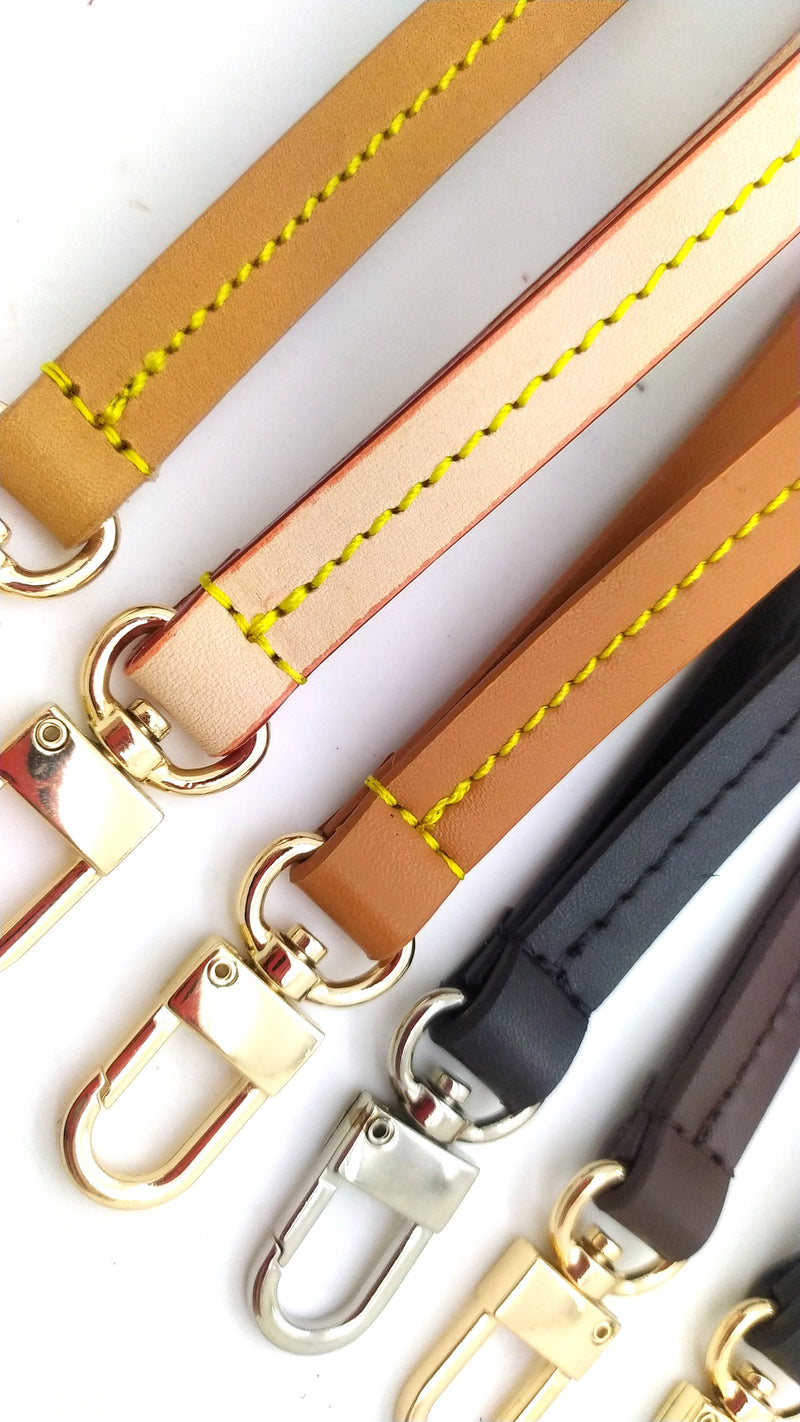 Vachetta Tanning Leather Wristlet strap replacement band for Louis vuitton Pouch clutch pochette accessoires Neverfull felicie bag purse