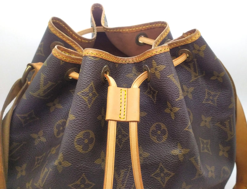 Tanned Vachetta Real Leather Drawstring cord replacement strap & Slide for Louis Vuitton Noe nano petit Noé, Montsouris backpack bucket bag