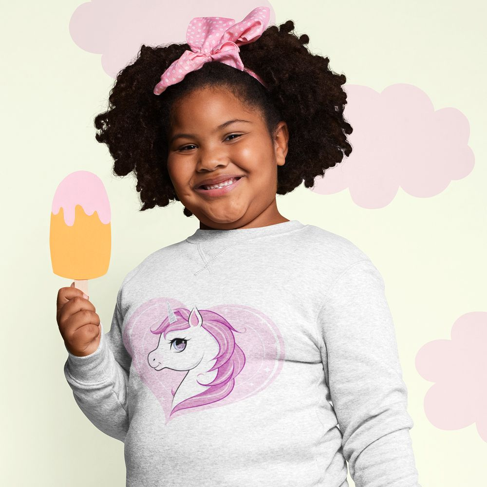 Collection sweat-shirt licorne enfant coton bio
