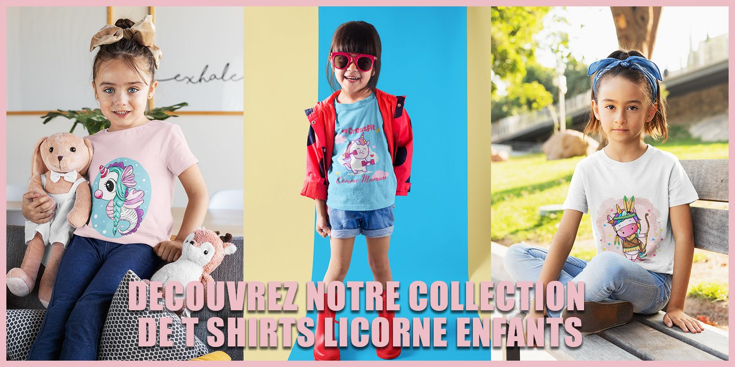 Collection t shirt licorne enfants