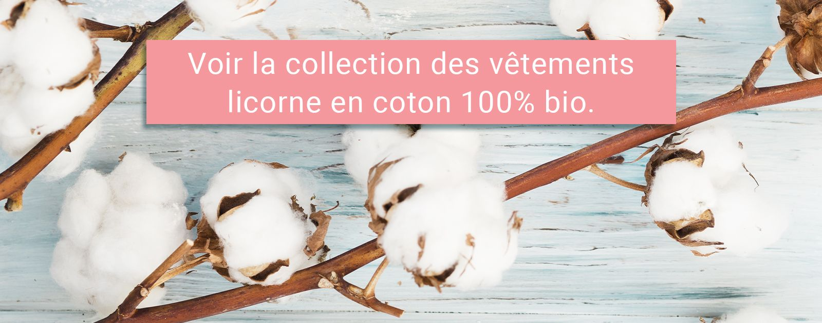 Collection vêtements licorne en coton bio