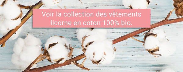 Collection vêtements licorne coton bio
